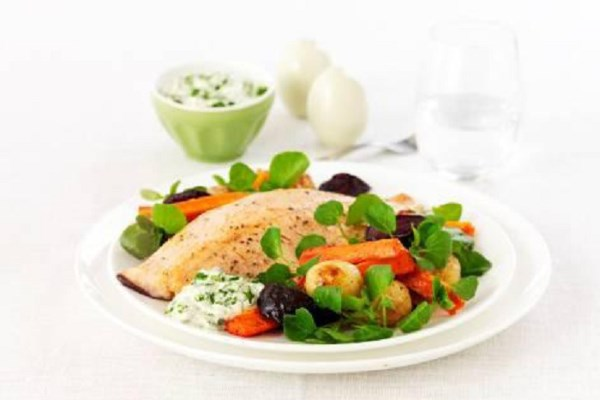 Trout with Creamy Watercress Sauce