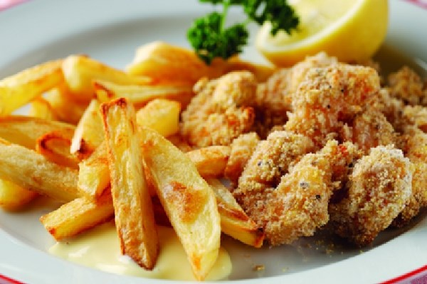 Sixties Scampi and Chips with Homemade Salad Cream