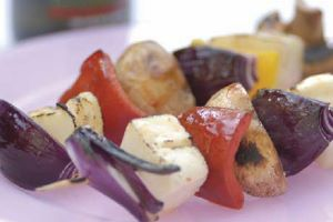 Good Oil - Haloumi Kebabs with Sesame Chilli Marinade
