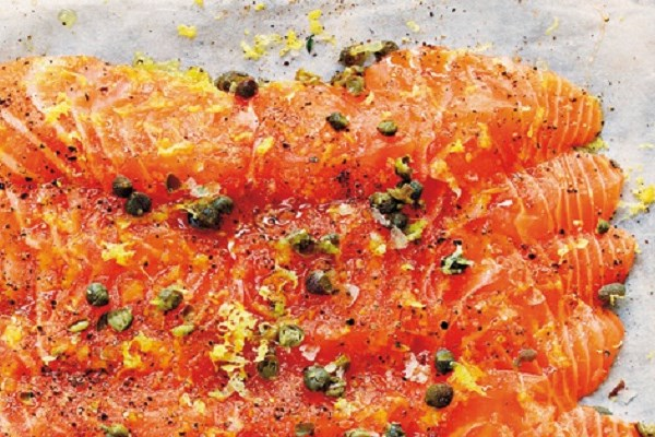 Salmon Baked on Parchment Paper with Capers and Caper Beurre Noisette - Tom Aikens