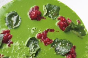 Watercress Soup with Cranberry - Tom Aikens