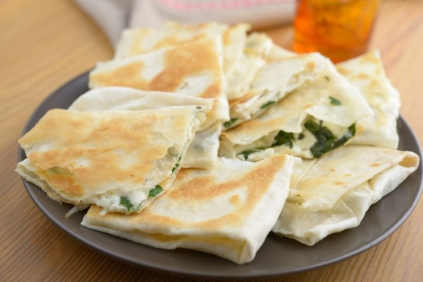 Istanbul Minced Lamb and Spinach Gozleme by Laurence O'Bryan