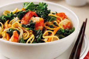 Prawn and Kale Stir Fry