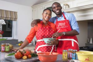 Footballer Fabrice Muamba and wife, Shauna, Launch Charitable Sauces at MediaCityUK Booths