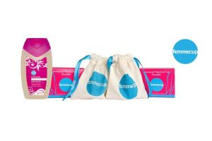 Win a Femmecup Twinpack and 200ml Bottle of Femmewash