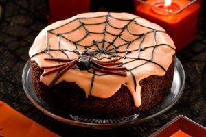Halloween Black Widow Cake