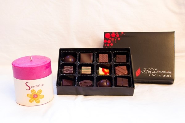 Win a 5D Chocolate Journey Box and Sentelle Pillar Candle