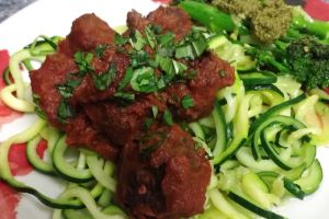 Paleo 'Spaghetti' and MeatBalls