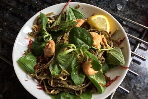 Thai Prawns with I Sea Pasta