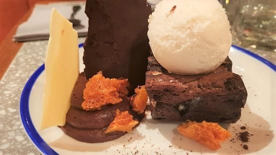 Chocolate Brownie and Ice Cream